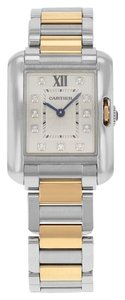Cartier Cartier Tank Anglaise WT100024 Steel & Gold Quartz Watch (13641)