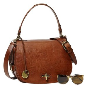 Ralph Lauren Leather Saddle Shoulder Bag