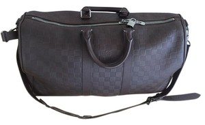 c944ebede0aa Louis Vuitton Keepall Bandouliere 45 Damier Infini Brown Leather Weekend  Travel Bag
