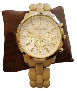 Michael Kors Michael Kors - Ladies Cream Tortoise Shell Chronograph Watch