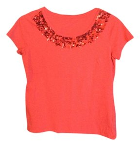 Charter Club Casual Wear T T Shirt Coral