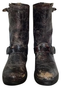Frye Vintage Leather Buckles Brown Boots