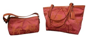 Coach Horse And Carriage Rare Tote in pink