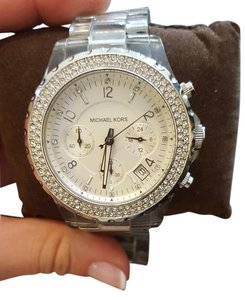 Michael Kors Michael Kors Clear Resin & Crystal Watch