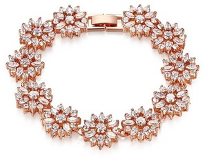 Rose Gold Brilliant Cubic Zirconia Plated Bracelet