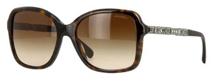 Chanel Chanel Crystal Baguette Butterfly Sunglasses 5308B (Tortoise)