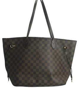 Louis Vuitton Neverfull Damier Canvas Ebene Tote in Brown