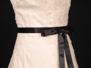 Your Dream Dress Exclusive Black Double Faced Ribbon Sash