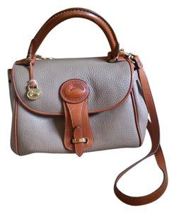 Dooney & Bourke Vintage Leather Retro Satchel in taupe