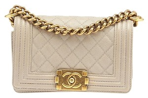 Chanel Le Boy Caviar Quilted Leather Shoulder Bag