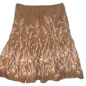 Max Studio Skirt Brown