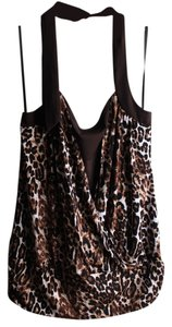 IZ Byer California New Brown Cheetah Print Halter Top