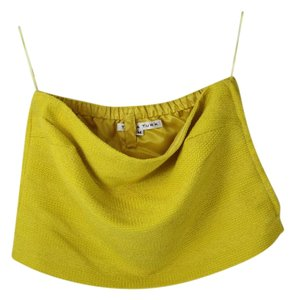 Trina Turk Strapless Bandeau Top Yellow