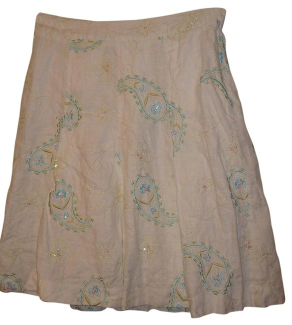 Grace Essentials Skirt White/Turquoise