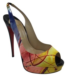 Christian Louboutin Slingback Multicolor Platforms