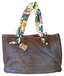 Braciano Straw St1626-chb Pet And Smoke Free Large Tote Brown Chocolate Branches Beach Bag