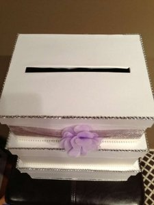 Ivory Wedding Gift Card Box