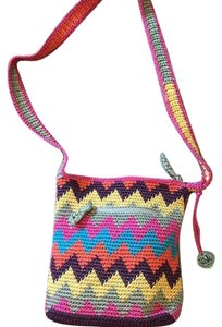 The Sak 104947 Hand-crocheted Pet And Smoke Free Zig-zag Cross Body Bag