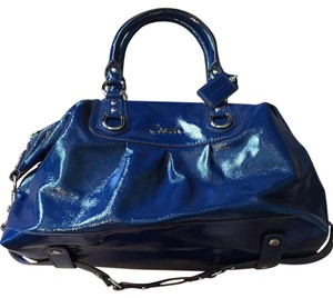 Coach 15454 Patent Leather Pet And Smoke Free Retired Satchel in Cobalt Blue