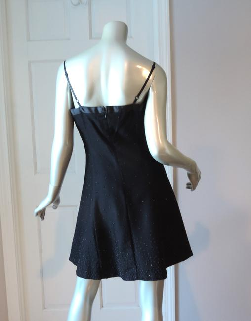 Betsey Johnson Felted Wool Flannel Little Beaded Occasion Party Dress