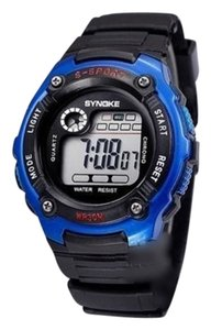 Synoke Black Quartz Sports Watch Unisex Style Free Shipping