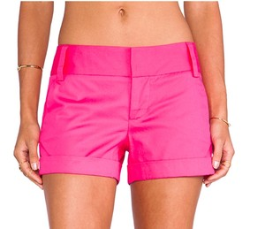 Alice + Olivia Cuffed Shorts Pink