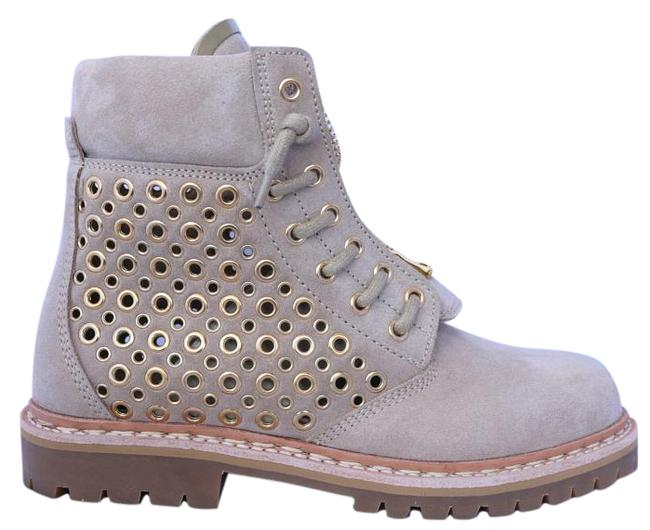 Item - Beige Tia Suede Grommet Perforated Tundra Ankle 38 Boots/Booties Size US 8 Regular (M, B)