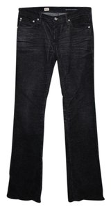 AG Adriano Goldschmied Jeans Cords Corduroy Boot Cut Pants Faded Black