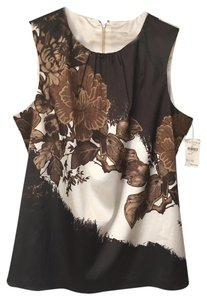 Tahari Top Black, Brown&Gold, Cream