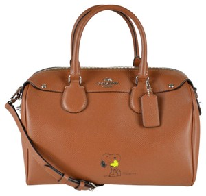 Coach Peanuts Snoopy Bennett 37271 Satchel in Saddle