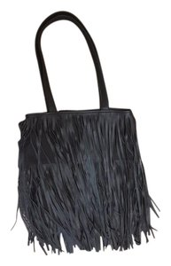 Black fringe tote Tote in Black