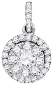 Other Ladies Luxury Designer 14k White Gold 0.92 Cttw Diamond Fashion Pendant By BrianGdesigns