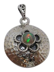 Other Round Flower Opal Pendant no Chain w Free Shipping