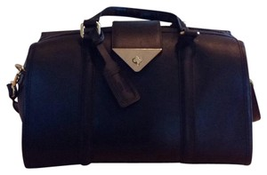 Topshop Satchel in Black With Gold Accents