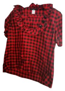 J.Crew Top Red and black