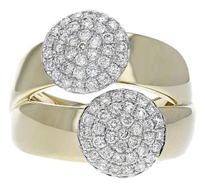 Other 14k Yellow Gold and 0.76ct Diamond Split Ring