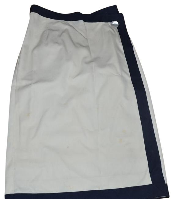 Item - Beige Navy Fashion Absolutely Skirt Size 10 (M, 31)