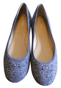 Sperry Rhinestone Ballet Grey Flats