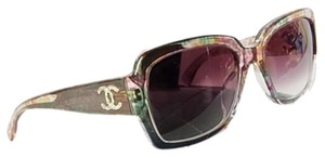 Chanel Chanel 5221 Sunglasses With Violet Gradient Lens Silver CC Logo