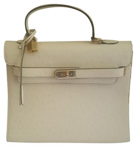 VIA BORGOSPESSO Leather Handbag Tote in Biege