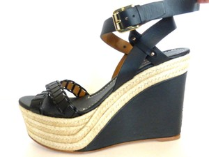 Ralph Lauren Collection Platforms Black Sandals