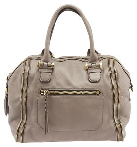 orYANY Leather Satchel in Grey