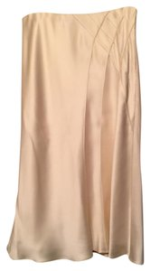 Ralph Lauren Silk Formal Midi Skirt Cream/ Off-White