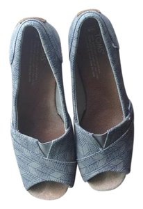 TOMS Casual High Heels Summer Blue and Grey Wedges