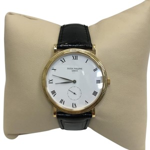 Patek Philippe Calatrava 3919 R Patek Philippe Calatrava 3919R Genuine Patek Black Leather Strap