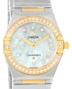 Omega Omega Constellation My Choice Steel Yellow Gold Diamond Watch 1376.75.00
