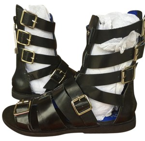 Jeffrey Campbell Daxos Gladiators Sz 38 Black Sandals