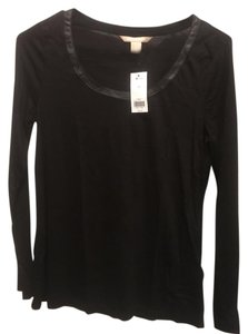 Banana Republic New With Tag Faux Leather T Shirt black