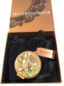 Jay Strongwater Jay Strongwater Violets Mini Compact Mirror