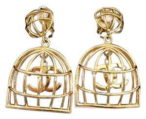 Chanel Vintage Chanel Swing Birdcage Clip Earrings